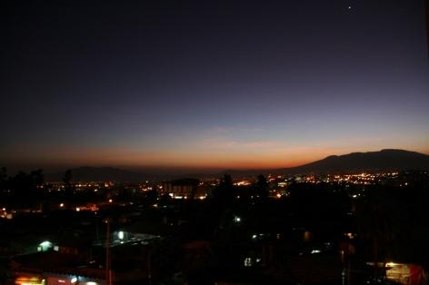 Addis Ababa Piazza Mercato area at night 2012